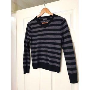 Express Striped Modern Fit Merino Wool Sweater